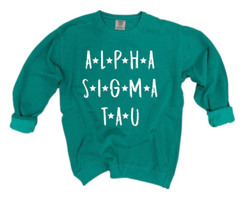 Alpha Sigma Tau Comfort Colors Starry Night Crew
