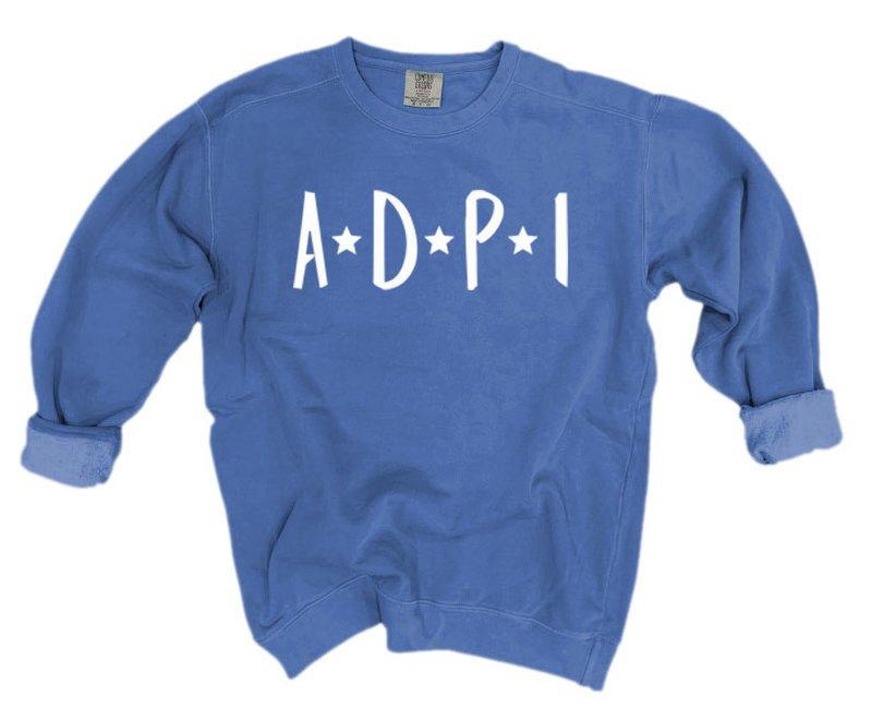 Alpha Delta Pi Comfort Colors Starry Night Crew