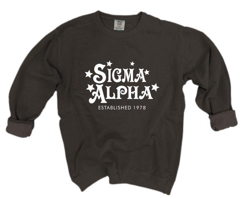 Sigma Alpha Comfort Colors Old School Custom Crew