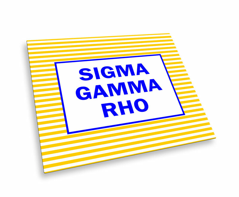 Sigma Gamma Rho Striped Mousepads