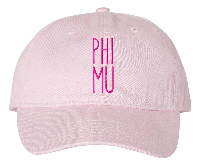 Phi Mu Mod Pigment Dyed Baseball Cap
