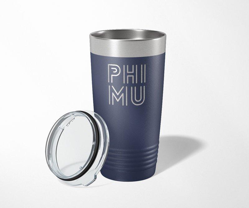 Phi Mu Modera Tumbler