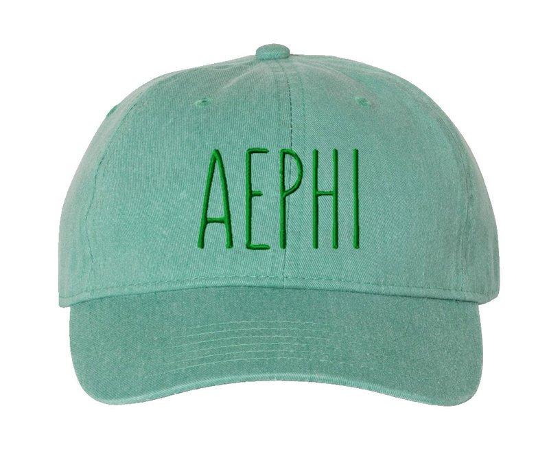 Alpha Epsilon Phi Mod Pigment Dyed Baseball Cap