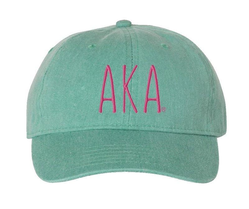 Alpha Kappa Alpha Mod Comfort Colors Pigment Dyed Baseball Cap