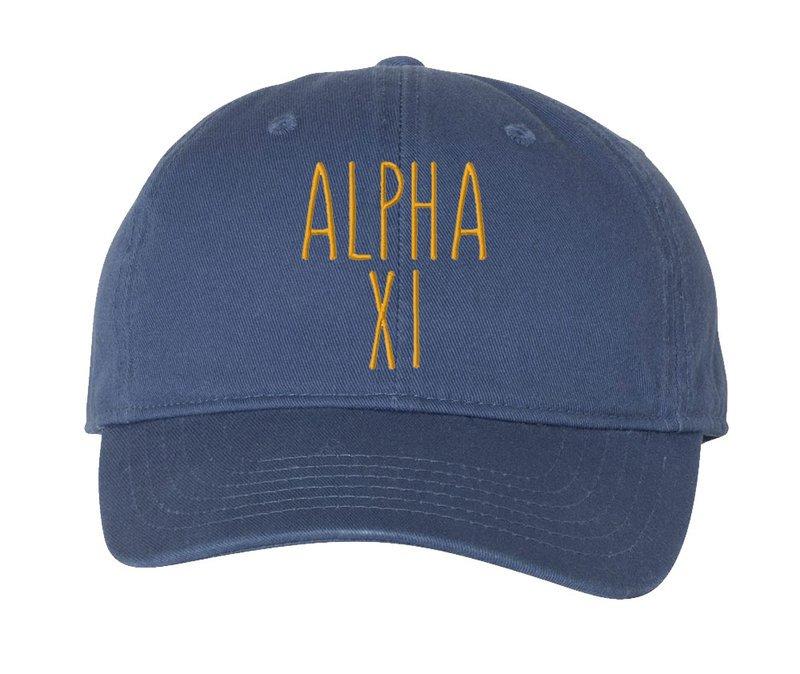 Alpha Xi Delta Mod Comfort Colors Pigment Dyed Baseball Cap