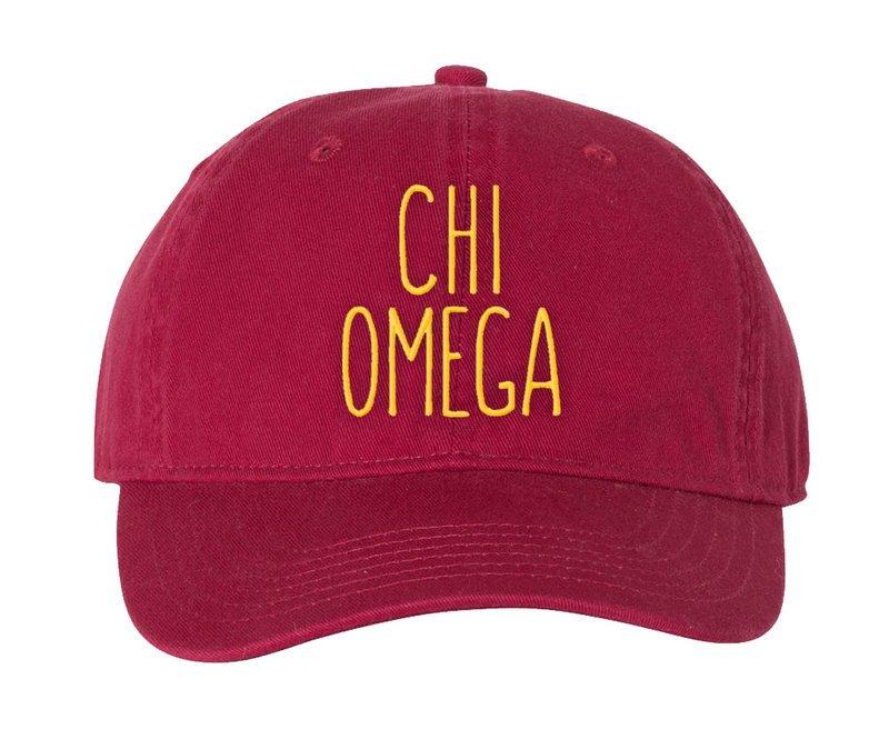 Chi Omega Mod Pigment Dyed Baseball Cap
