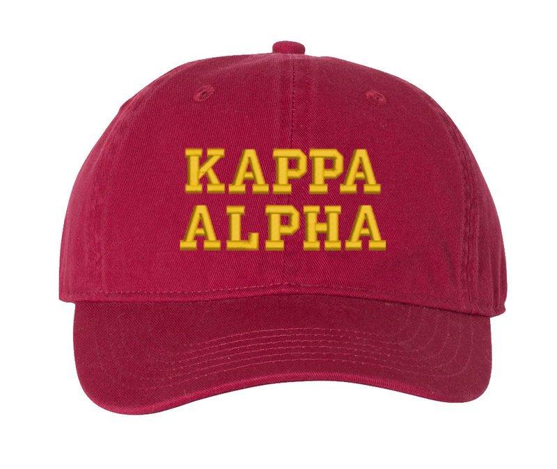 Kappa Alpha Pigment Dyed Baseball Cap
