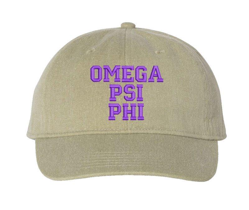 Omega Psi Phi Pigment Dyed Baseball Cap