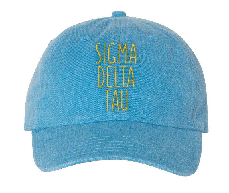 Sigma Delta Tau Mod Pigment Dyed Baseball Cap