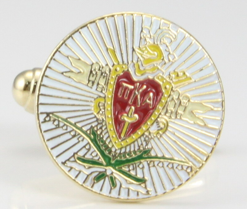 Pi Kappa Alpha Color Crest Cuff links
