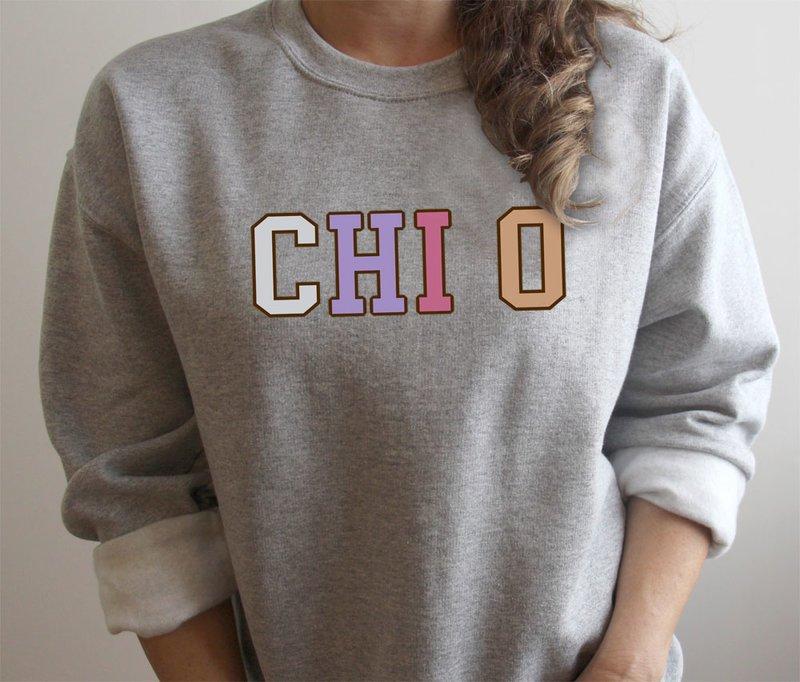 Chi Omega Nickname Crew Sweatshirt