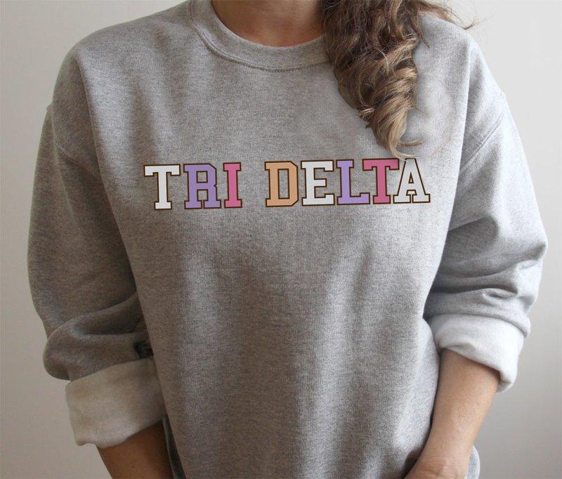 Delta Delta Delta Nickname Crew Sweatshirt