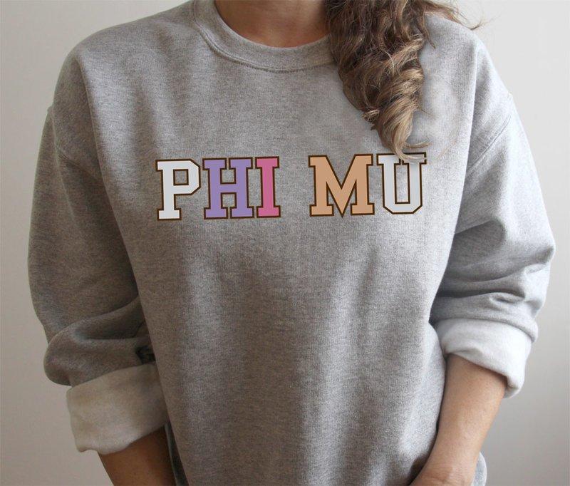 Phi Mu Nickname Crew Sweatshirt
