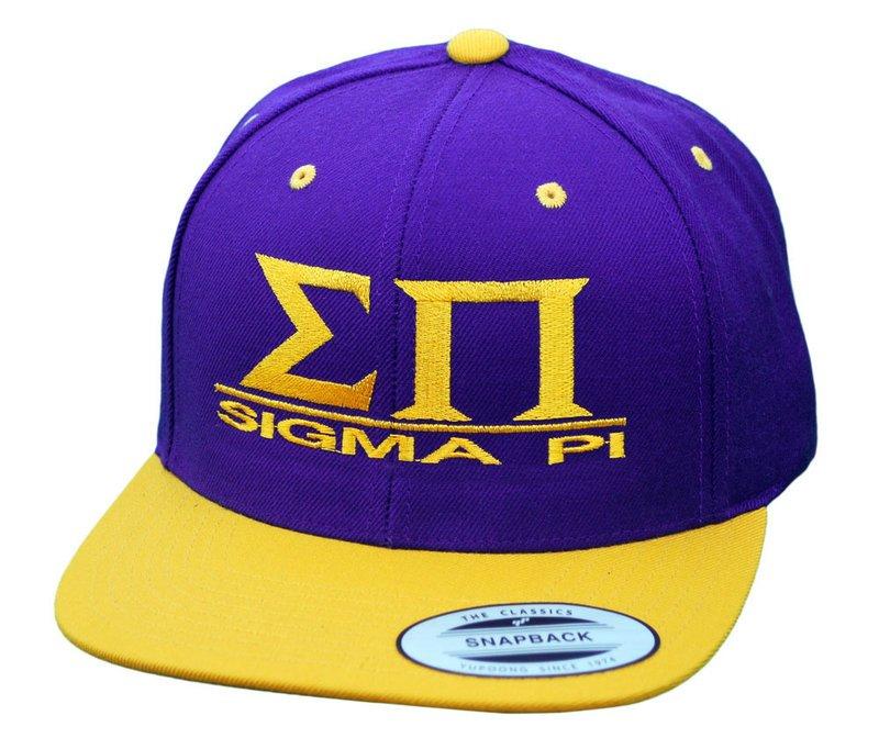 Sigma Pi Flatbill Snapback Hats Original