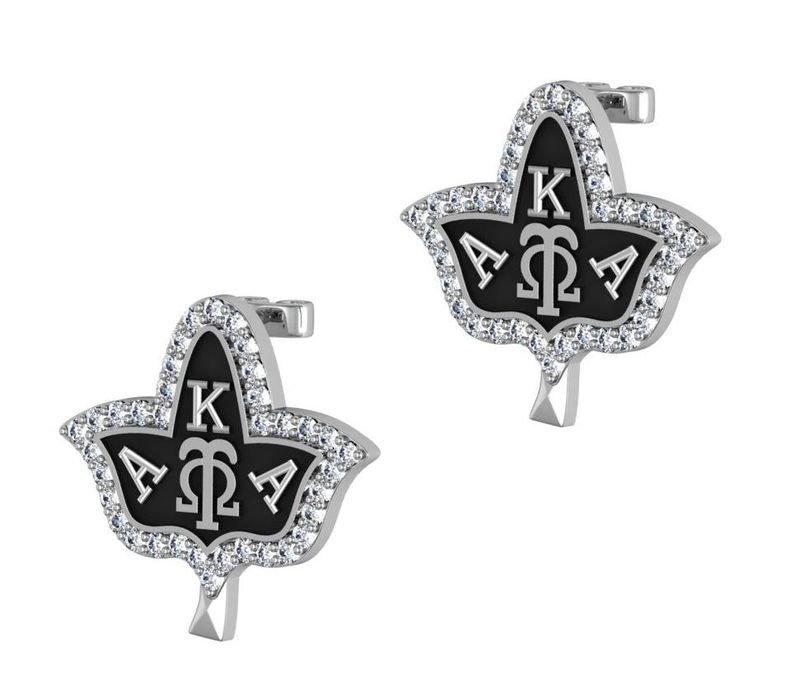 Alpha Kappa Alpha Ivy Leaf Earrings
