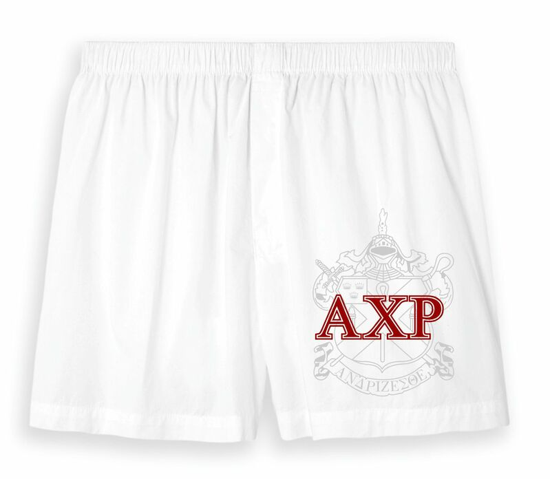 White Cotton Fraternity & Sorority Boxers