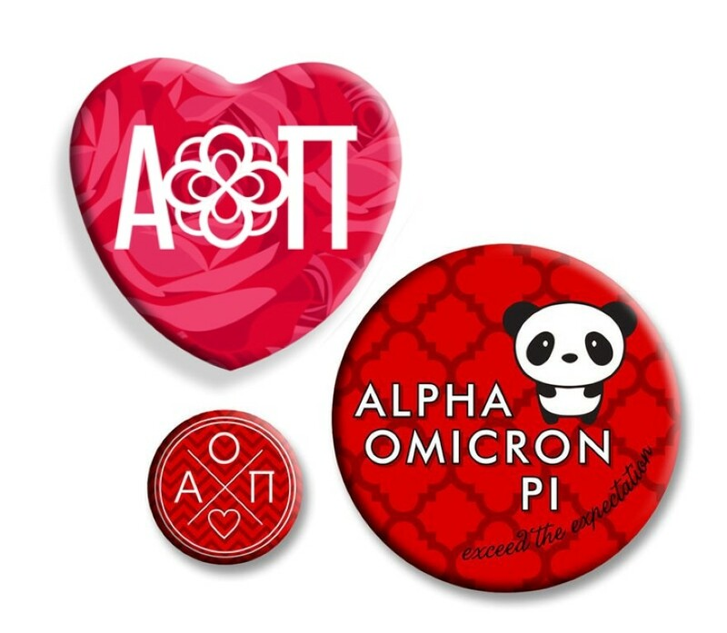 Alpha Omicron Pi Button Set