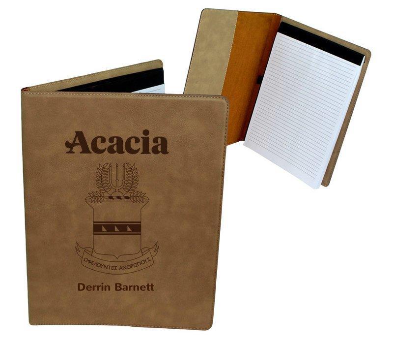 ACACIA Leatherette Portfolio with Notepad