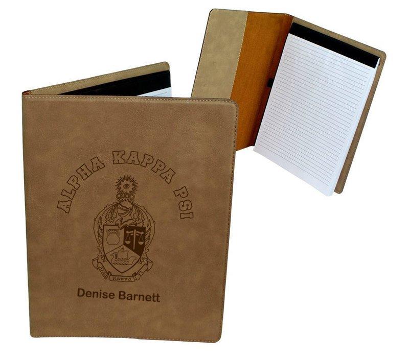 Alpha Kappa Psi Leatherette Portfolio with Notepad
