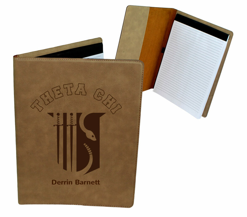 Theta Chi Leatherette Portfolio with Notepad