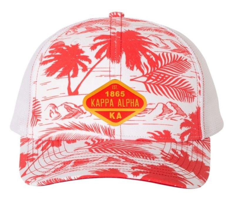 cd1ae70f DISCOUNT-Kappa Alpha Island Print Snapback Trucker Cap SALE $25.00. - Greek  Gear®