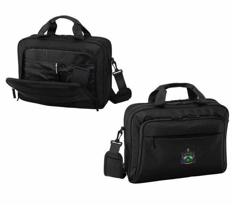 DISCOUNT-Delta Sigma Phi Crest - Shield Briefcase Attache