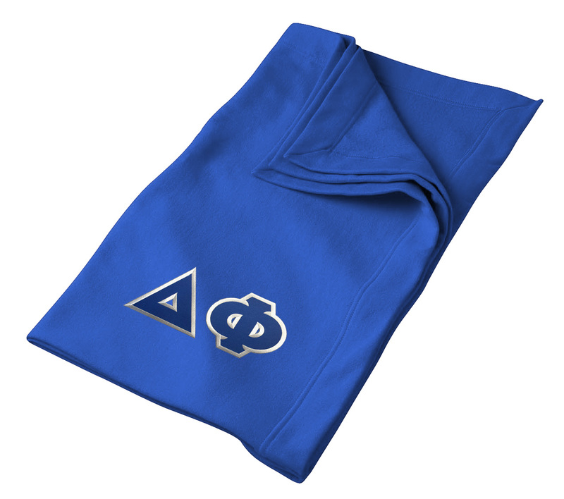DISCOUNT-Delta Phi Twill Sweatshirt Blanket