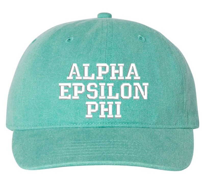 Alpha Epsilon Phi Pigment Dyed Baseball Cap