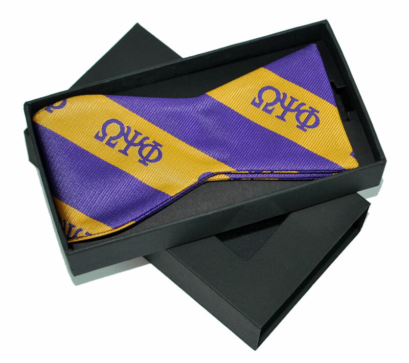 Omega Psi Phi Bow Tie W/ Matching Handkerchief
