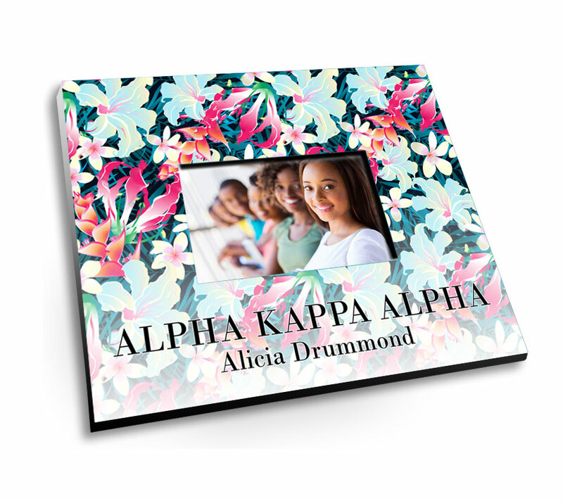 Alpha Kappa Alpha Tropical Picture Frame