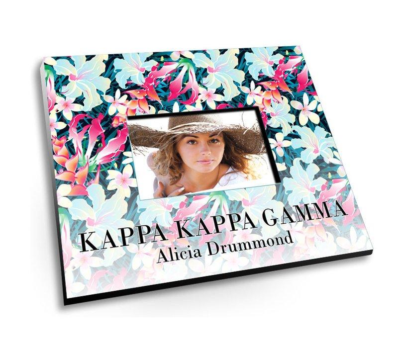 Kappa Kappa Gamma Tropical Picture Frame Sale 2995 Greek Gear