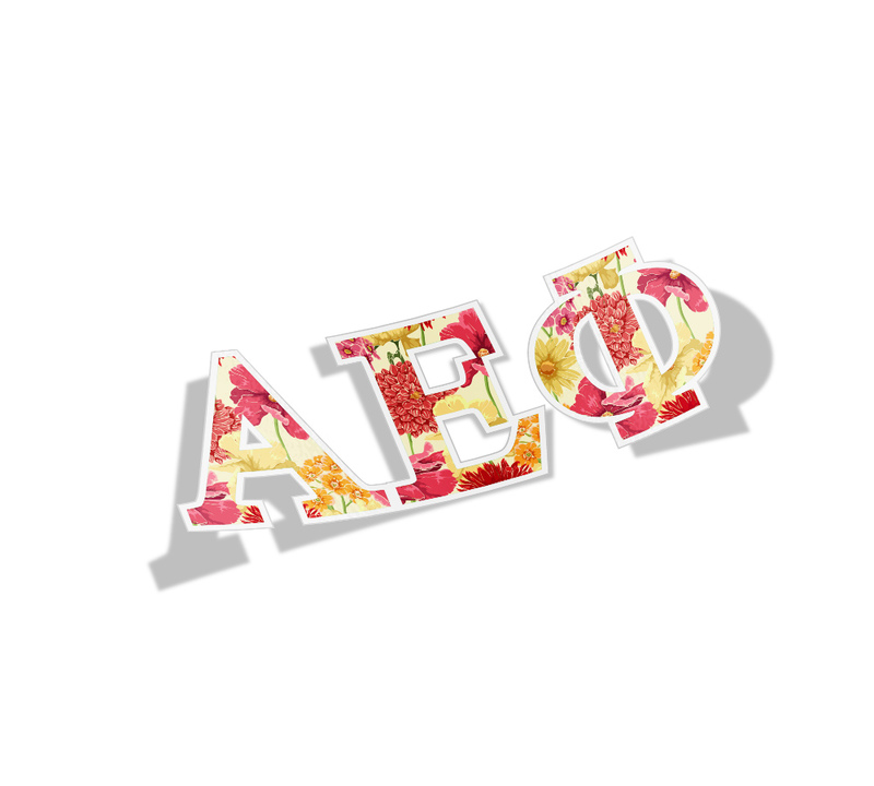 Alpha Epsilon Phi Floral Greek Letter Sticker