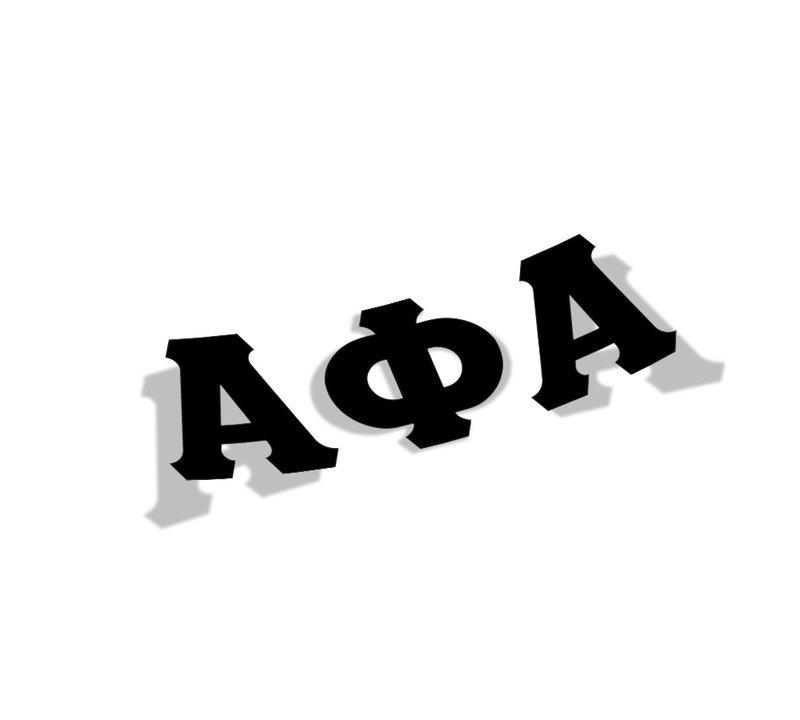 Alpha Phi Alpha Big Greek Letter Window Sticker Decal