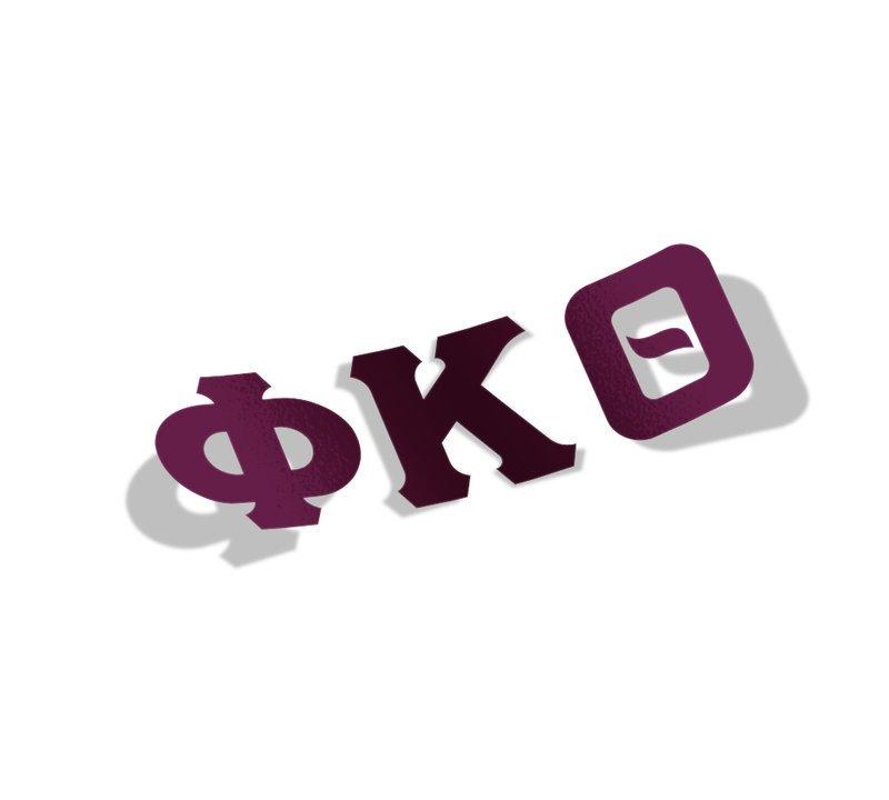 Phi Kappa Theta Big Greek Letter Window Sticker Decal