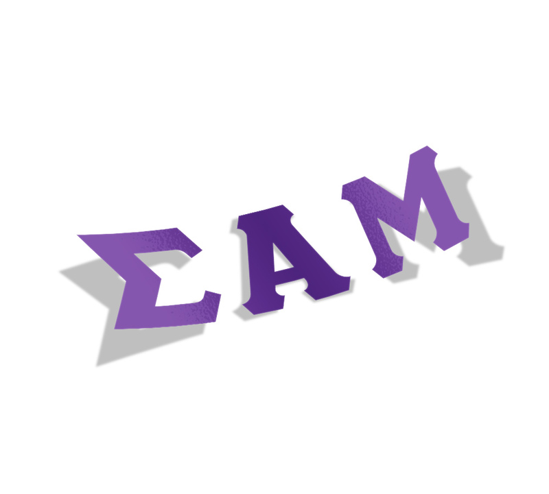 Sigma Alpha Mu Big Greek Letter Window Sticker Decal