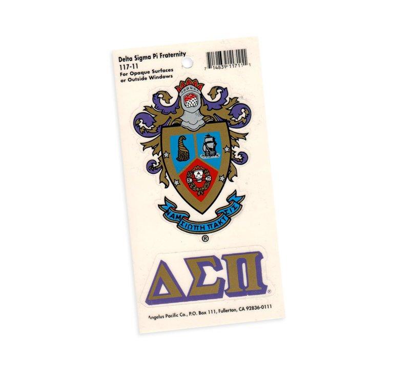 Delta Sigma Pi Crest - Shield Decal