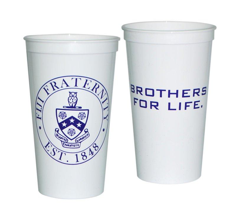 FIJI Fraternity Big Plastic Cup