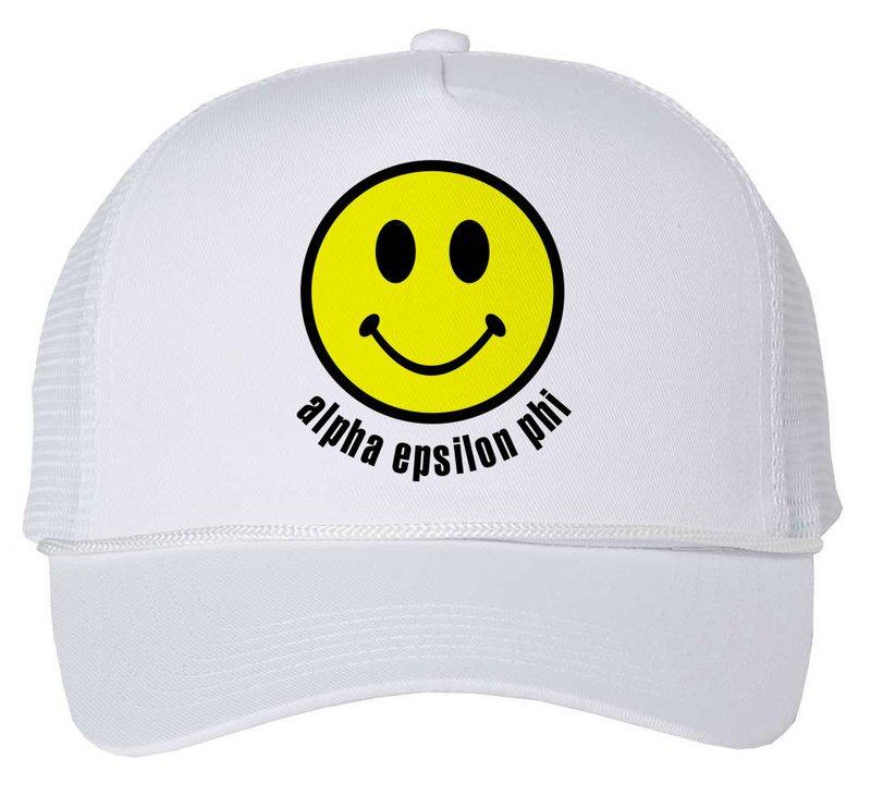 Alpha Epsilon Phi Smiley Face Trucker Hat