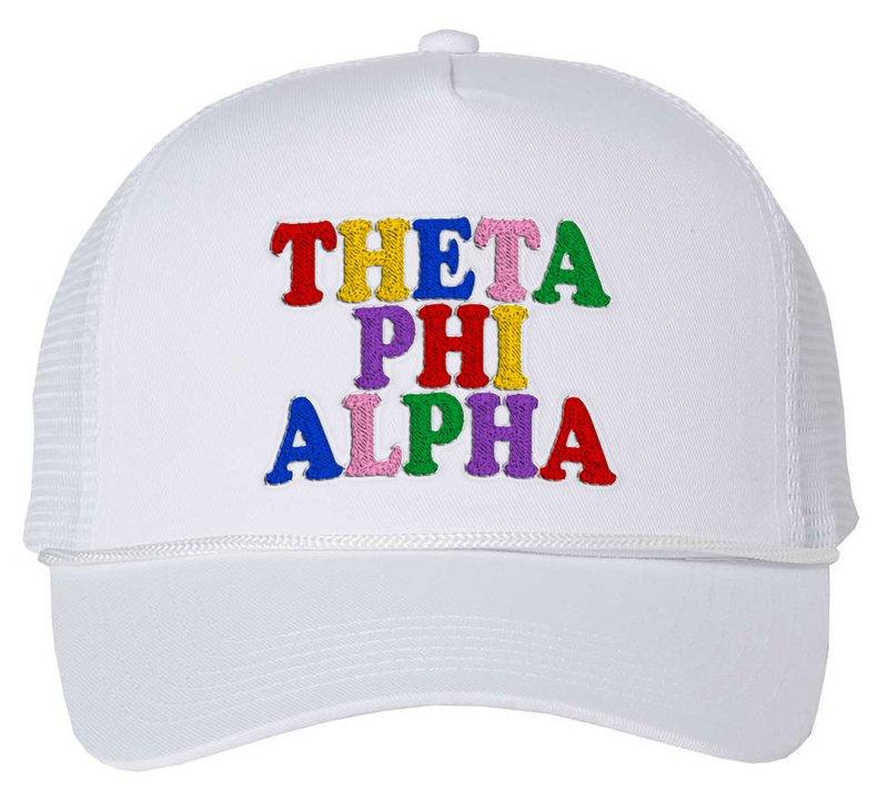 Theta Phi Alpha Rainbow Trucker Hat