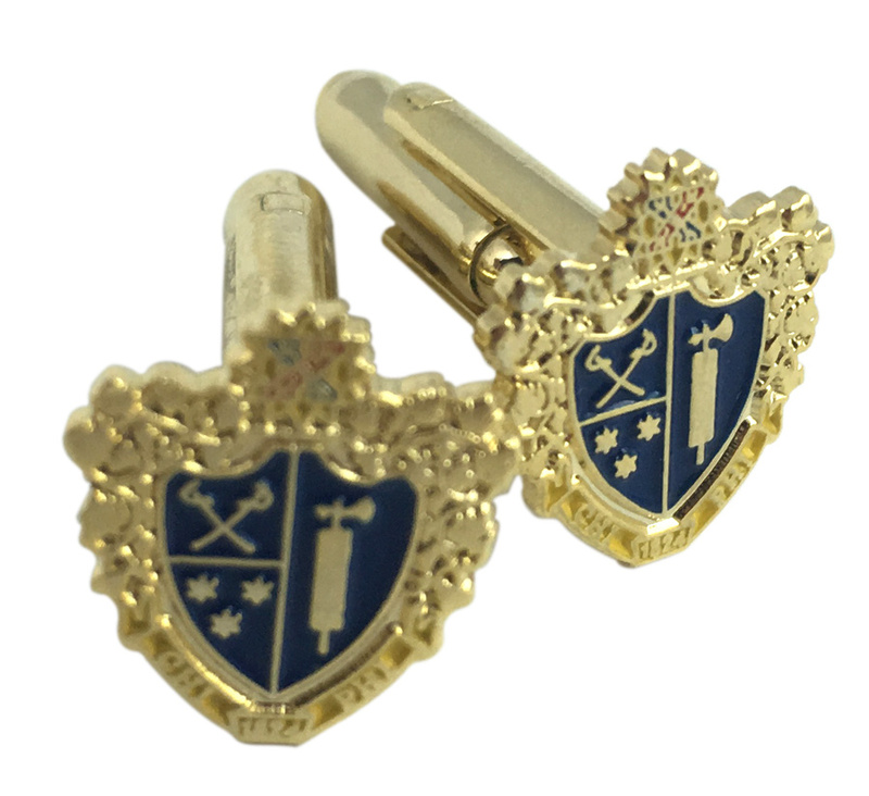 Chi Phi Color Crest - Shield Cuff links-ON SALE!
