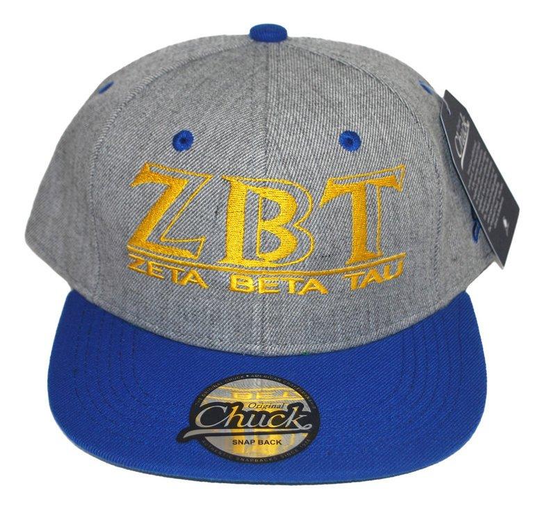 Zeta Beta Tau Flatbill Snapback Hats Original