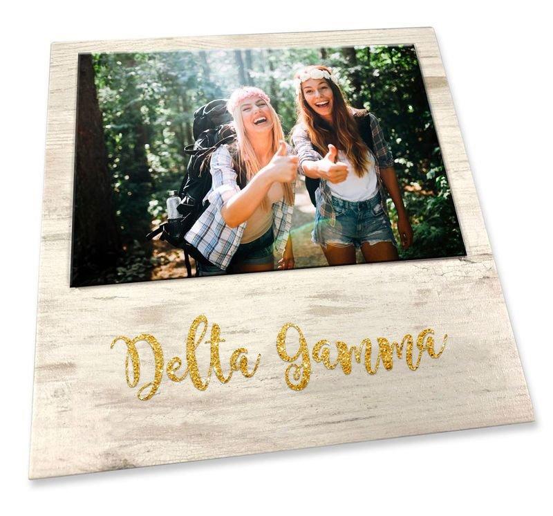 Delta Gamma Sorority Golden Block Frame