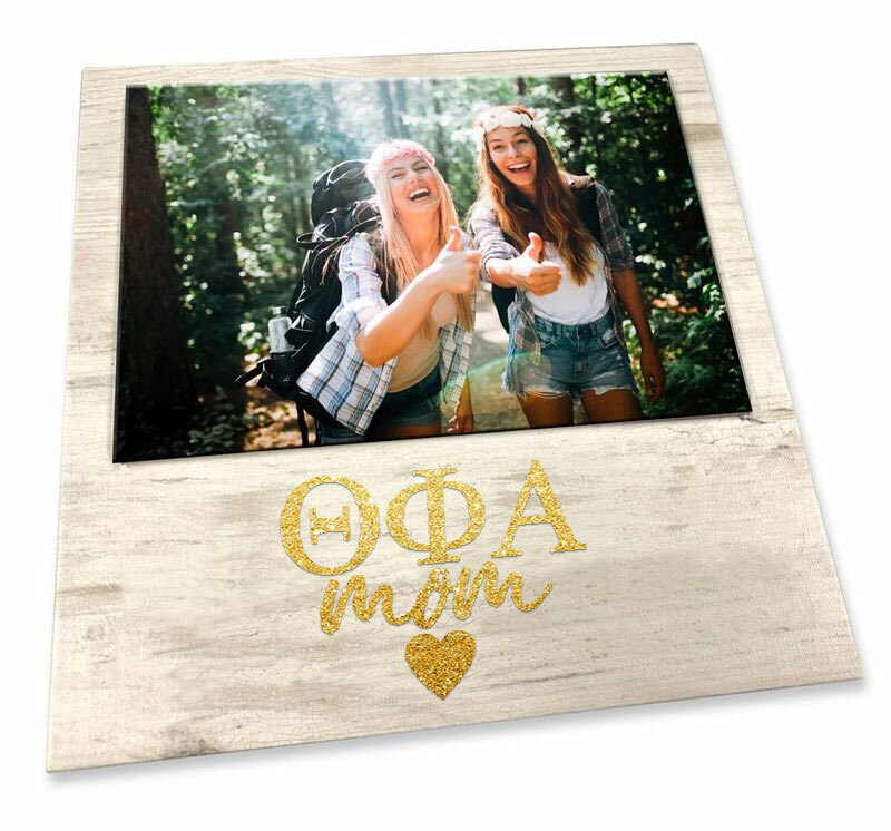 "Theta Phi Alpha White 7"" x 7"" Faux Wood Picture Frame"