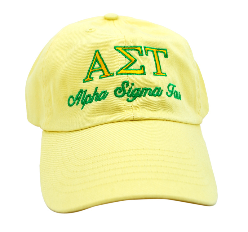 Alpha Sigma Tau Script Cap