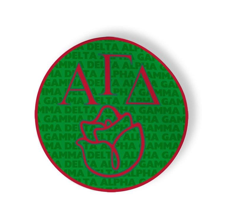 Alpha Gamma Delta Mascot Round Decals