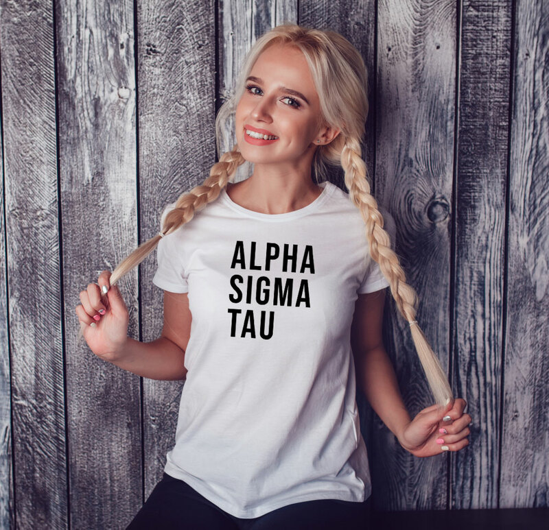 Alpha Sigma Tau Left Align T-Shirt