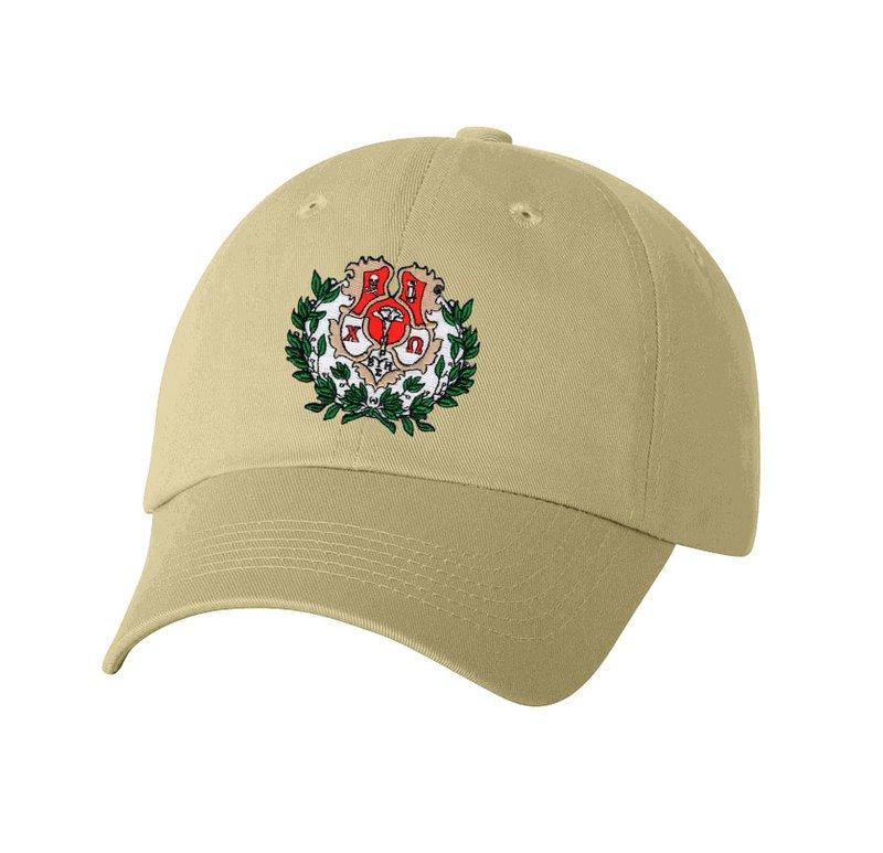DISCOUNT-Chi Omega Crest - Shield Hat
