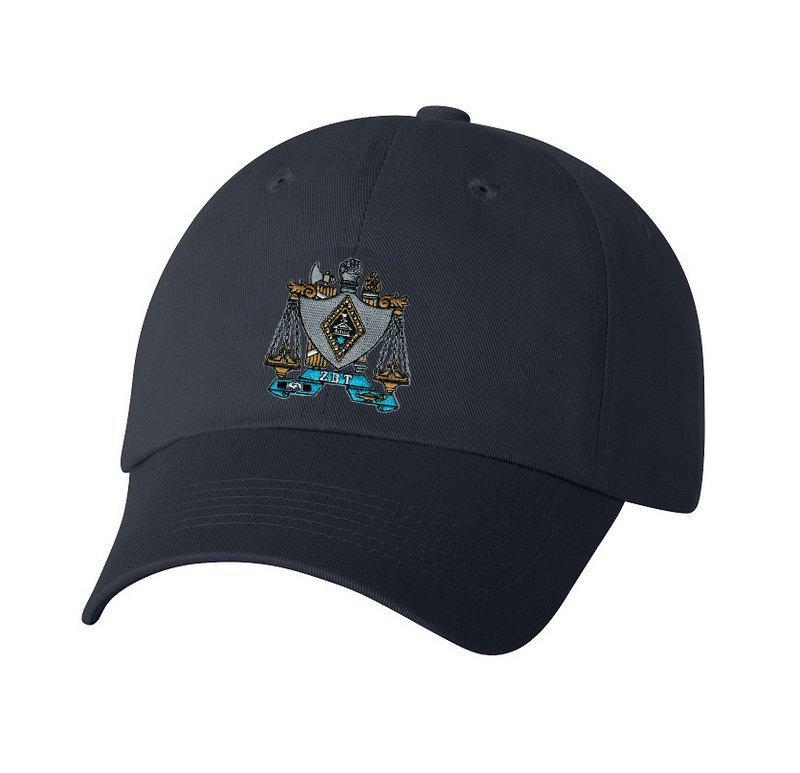 DISCOUNT-Zeta Beta Tau Crest - Shield Hat