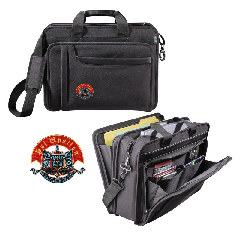 Psi Upsilon Crest Briefcase Attache