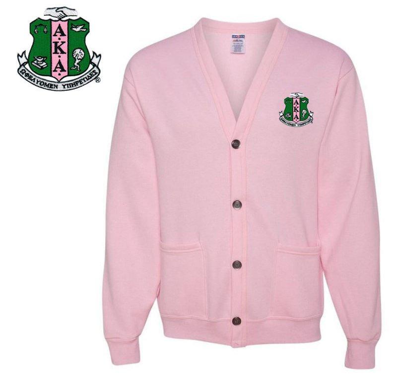 DISCOUNT-Alpha Kappa Alpha Cardigan Sweatshirt